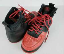 Nike Air Force 1 Black Red Men's Basketball Shoes size 9 boys sneakers