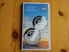 """10 Euro Sammlermünze """"In der Luft"""" von 2019 im BTN-Folder ( F )"""