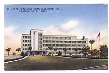 Manatee Veterans Memoril Hospital-Bradenton Florida- Postcard