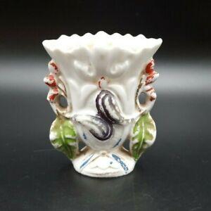 Vintage Miniature Hand Painted Porcelain Bud Spill Vase