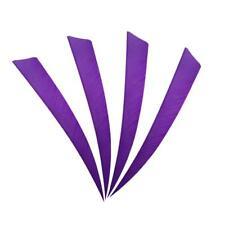 "100X Archery Turkey Feather Hunting Arrows Fletching Right Wing 4"" Shield Purple"