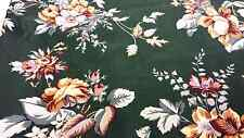 Bloomcraft Screen Print Fabric Material 2 Yards Sewing Quilting 1986 Vintage