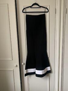 Victoria Beckham Knit Amazing Skirt Black White Authentic Size Uk 6
