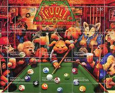Tajikistan 1999 MNH Pool 9v M/S Dogs Games Stamps