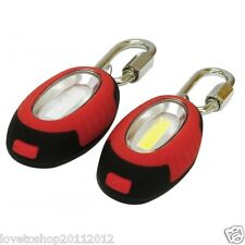 Rolson 0.5W COB Lights Red & White With Carabiner Clips Walking Cycling 61604