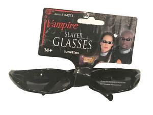 BLACK VAMPIRE SLAYER GLASSES Sunglasses Matrix Mod Clout Punk Rock Shades Biker