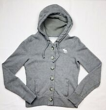 Abercrombie & Fitch Women's Size S Gray Full Zip Hoodie