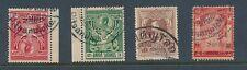 THAILAND SIAM PITSANULOKE POSTMARKS 4 stamps