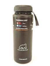 Polar Bottles Thermaluxe Water Bottle W/Standard Cap 21 Oz. Black
