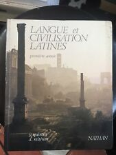 LAngue et civilisation latines. Premiere année Y Quintin et D Mitéran