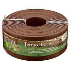 Landscape Edging Garden Lawn Border Stakes Plastic Brown Terrace Board 5
