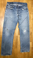 Vintage Levi's Mens' 501xx Jeans 30x30 Red Tab WPL 423 Made in USA Distressed
