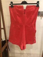 NWOT Nasty Gal Coral Playsuit - Size Small