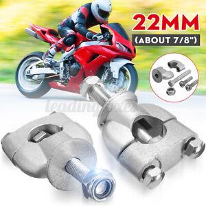 """22mm 7/8"""" Handlebar Handle Bar Riser Mount Clamps For Motorcycle Dirt Bike UK"""