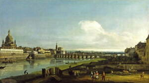 Bernardo Bellotto View of Dresden with the Frauenkirche at Giclee Canvas Print