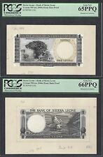 Sierra Leon One Leone ND(ca1960) Essay Face & Back Proof Uncirculated