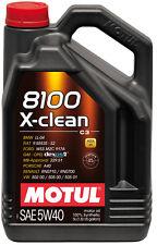MOTUL Motoröl 8100 X-clean 5W-40 1 x 5 Liter vollsynthetisch