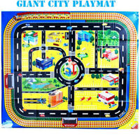 GIANT City Play Mat Kids Floor Car Toy Road Railway Street Cars Layout Game Boys
