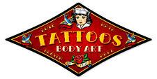 Sailor Tattoo Body Art Schwalben Love Hate Tattoos Sign Blechschild Schild Groß