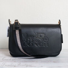 Coach Pebble Leather Jes Messenger Crossbody Bag F72703 Black