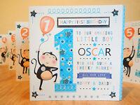 Birthday boy 1st 2nd 3rd 4th 5th Boy birthday card-Special age card personalised