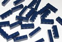 LEGO LOT OF 25 NEW DARK BLUE 1 X 4 BRICKS BLOCKS PIECES