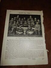 1925-6 Bolton Wanderers & 1926-7 Cardiff City Football club team print -FA cup