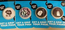 SET OF 4 CELL PHONE GRIPS HALLOWEEN THEME VAMPIRE BATS MY BOO GHOST PHONE TABLET