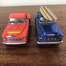 Kinsmart lot Of 2 Pickup Trucks 1955 Chevy Stepside Pull Pack