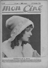 Mon Ciné N° 40/1922 - Marguerite de La Motte, Raymond Bernard, Jeanne Desclos