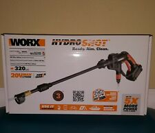 WORX WG629 Cordless Hydroshot Power Cleaner, 20V Li-ion, NEW