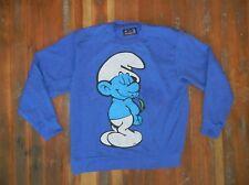 RUSSELL ATHLETIC Heavy Warm Blue SMURFS SWEATSHIRT Cartoon Movie Sz Men's XXL