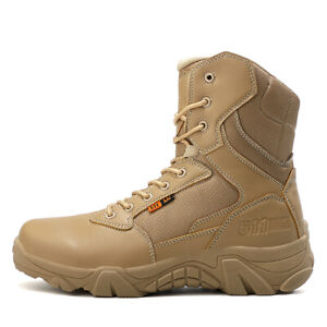 Mens High top Military Combat Ankle Boots Army Combat Waterproof Cloth Shoes NEW