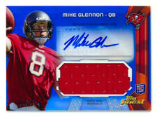 2013 TOPPS FINEST MIKE GLENNON RC BLUE REFRACTOR JERSEY AUTO BEARS #99/99 1/1!