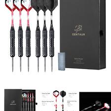 CENTAUR 6 Pack Steel Tip Darts, Professional Metal Dart Tips Set 22 Grams wit...