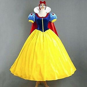 Adult Princess Snow white Fancy Dress Costume Ladies Fairytale Party 6 - 18