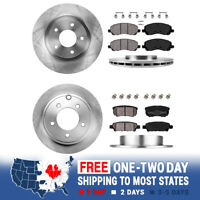 Front And Rear Brake Rotors & Ceramic Pads For SEBRING JEEP COMPASS PATRIOT 200