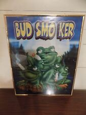 Hanging Picture Of Bud Smoker Frogs
