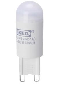 Ikea RYET LED bulb G9 200 lumen, opal white new