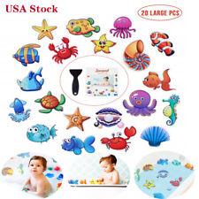 20Pcs Large Non Slip Bathtub Stickers Self Adhesive Kids Anti Slip Decal+Scraper