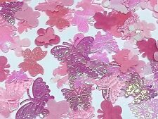 200x Pink Canvas Mariposas 4 manualidades, Costura! Adhesivo with pegamento