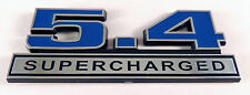 1979-2014 Ford Mustang Shelby GT500 Blue & Chrome 5.4 Supercharged Emblem