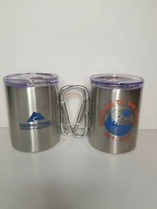 Ozark Trail Carabiner 17 oz. Stainless Steel Double Walled Mug Set W/ Lid