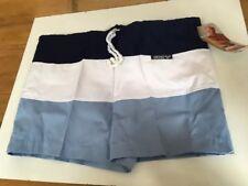 "Vintage 1980s Arena Gavroche Swimming Trunks Shorts Mens 32"" BNWT Blue White"