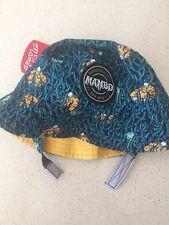 Mambo Boys Toddler Hat Green Orange Puffa Fish Print OSFA Bnwt