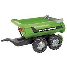 Rolly Toys Deutz-Fahr Halfpipe-Trailer Kipper Anhänger Trailer grün