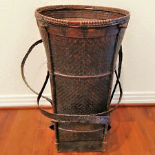 Antique Dayak carrying basket, Kalimantan Borneo, Indonesia, early to mid-1900s
