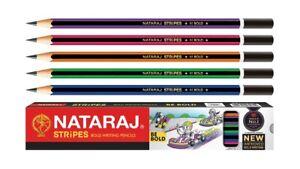 200 Nataraj STRIPES BE BOLD pencil | free eraser & sharpener | Bold writing