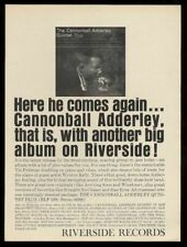 1961 Cannonball Adderley photo Riverside Records vintage print ad