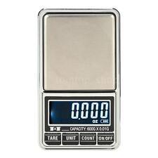 600g*0.01g USB LCD Mini Digital Scale Jewelry Gold Pocket Balance Weight T3Y2